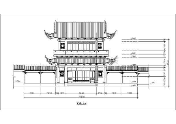 园林古建筑设计方案cad文本图纸-图3