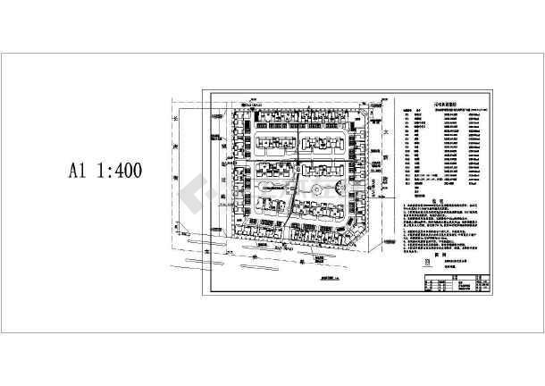 某商住小区园林景观施工全套CAD设计图附效果图-图一