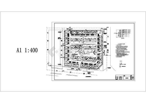 某商住小区园林景观施工全套CAD设计图附效果图-图二