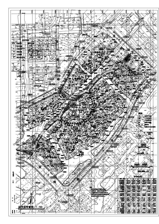 某地区居住小区建筑总平面图纸全套图片1