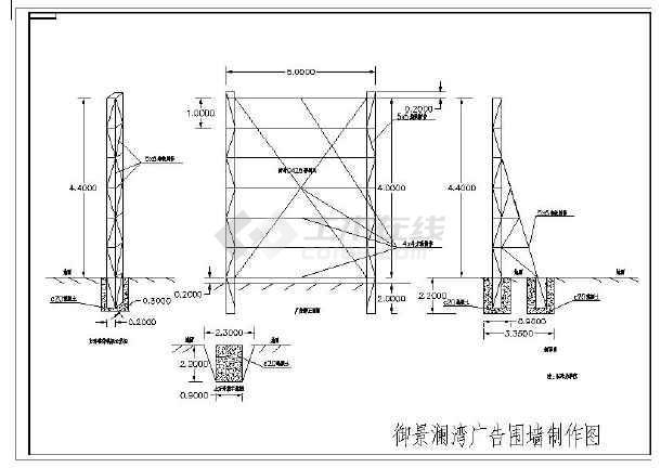 钢结构广告、6米高广告牌围挡-图1