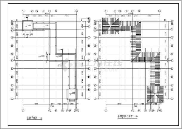 某园林亭廊cad施工图-图3