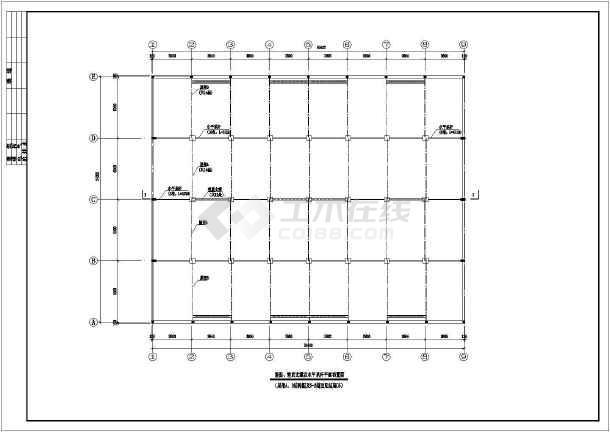 木屋架厂房建筑结构设计图(6m跨半屋架)-图3
