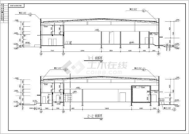某钢结构厂房建筑构造CAD设计图纸-图2