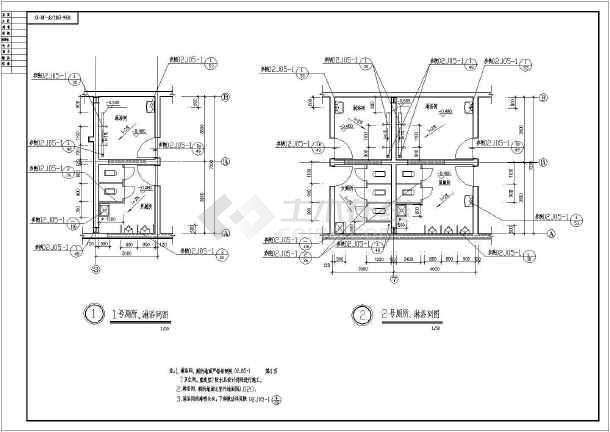某钢结构厂房建筑构造CAD设计图纸-图3