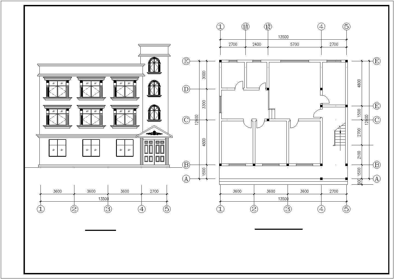 三套三层住宅建筑图之三层住宅楼图纸图片1