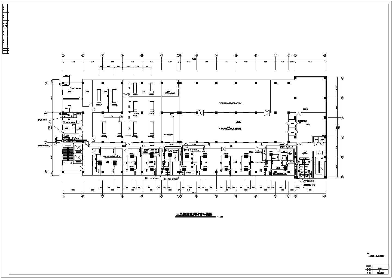 某洁净厂房空调系统cad平面布置施工图纸图片2