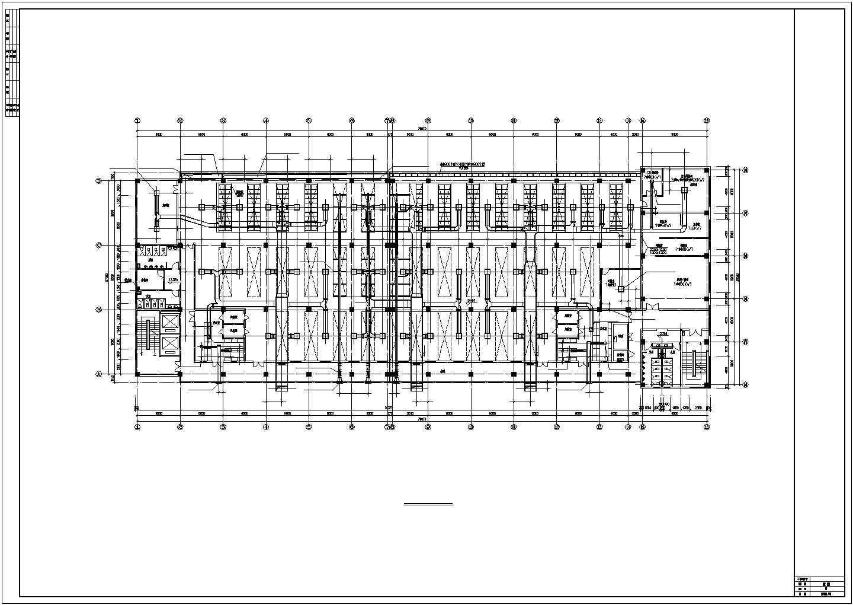 某洁净厂房空调系统cad平面布置施工图纸图片3