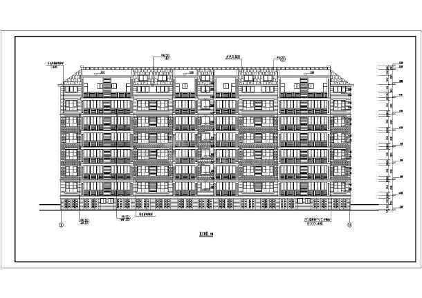 某地6东晟3号层坡顶住宅楼建筑施工cad设计详图-图一