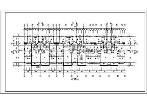某地6东晟3号层坡顶住宅楼建筑施工cad设计详图-图二