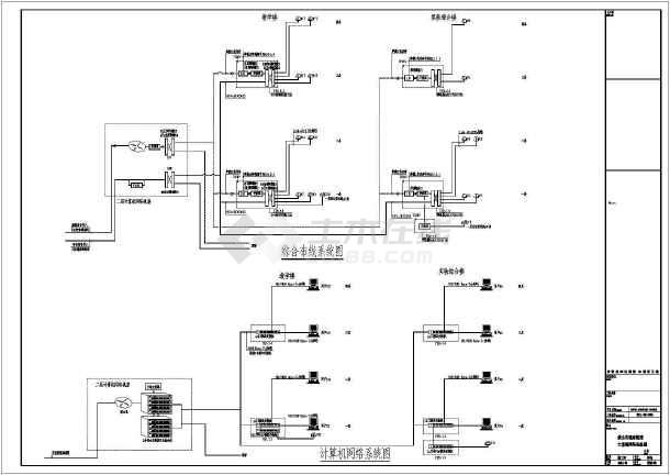某学校弱电及智能化工程建筑电气设计图纸-图2