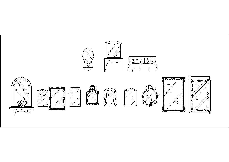 很齐全的家装家电素材cad立面图库图片2