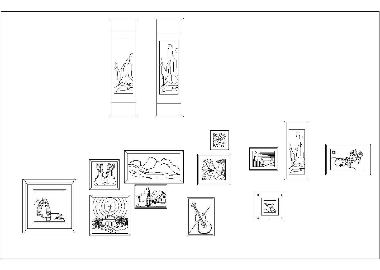 很齐全的家装家电素材cad立面图库图片3