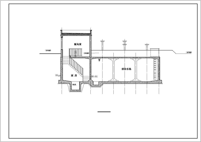 北方地区地下消防水池建筑图图片3