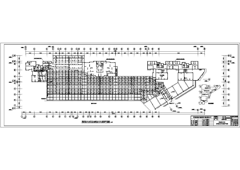 某地下车库自动喷淋系统设计施工图图片1