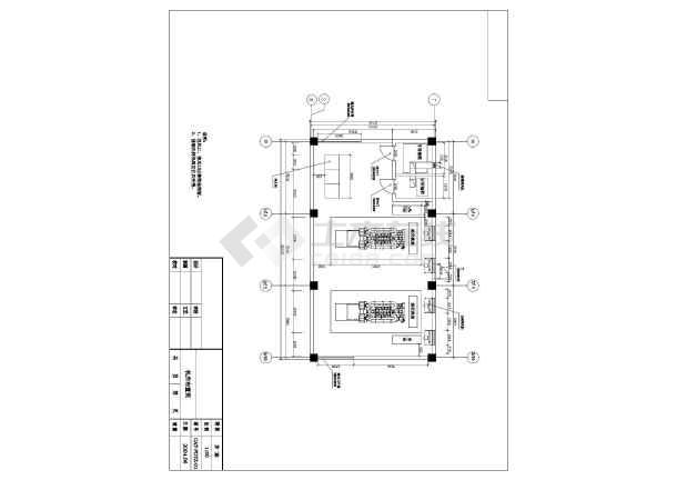 点击查看南方某市两台1600KW发电机环保安装工程CAD设计图纸第1张大图