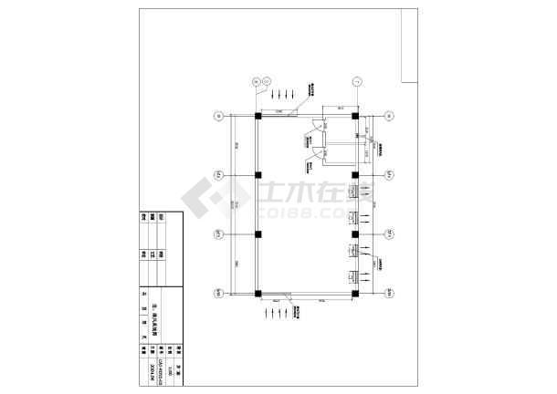 南方某市两台1600KW发电机环保安装工程CAD设计图纸-图1
