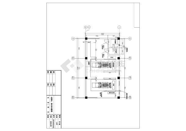南方某市两台1600KW发电机环保安装工程CAD设计图纸-图2