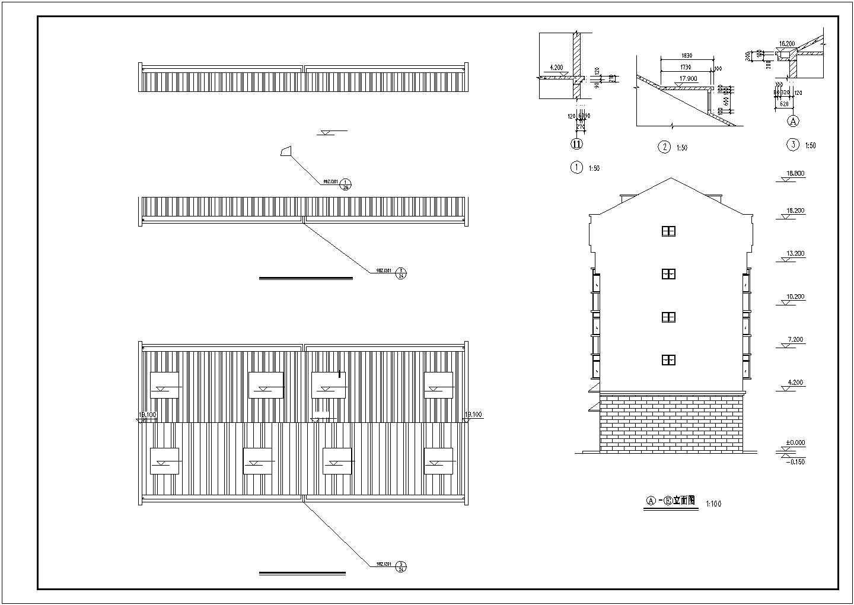 某地区大型私人住宅楼图纸(标注详细)图片1