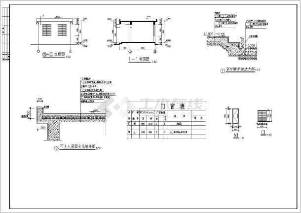 广州某医院污水处理机房氧气站建筑cad施工图-图2