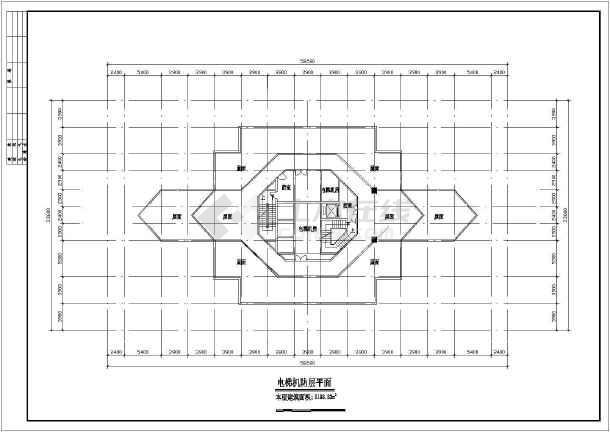 某地区高层酒店平面建筑方案文本图-图1