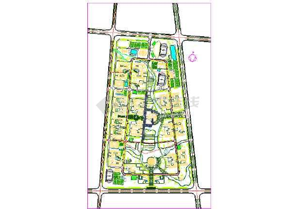 某地师范大学新校区建筑总体规划设计图(含建筑方案文本)-图1