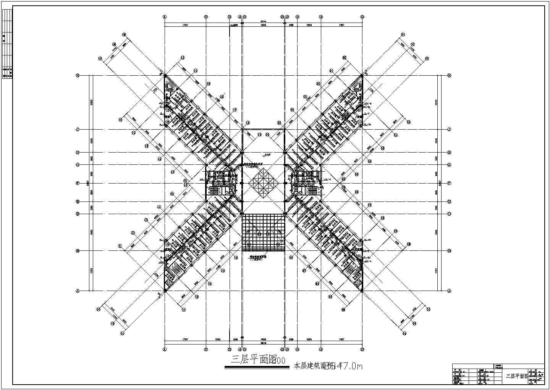多层办公楼给排水及消防自动喷淋设计施工图图片3