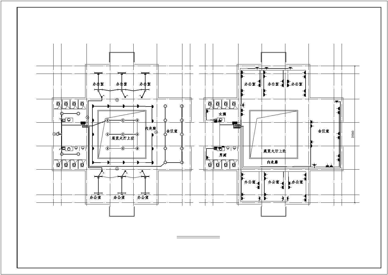 三层办公楼电气设计图(含设计说明)图片2