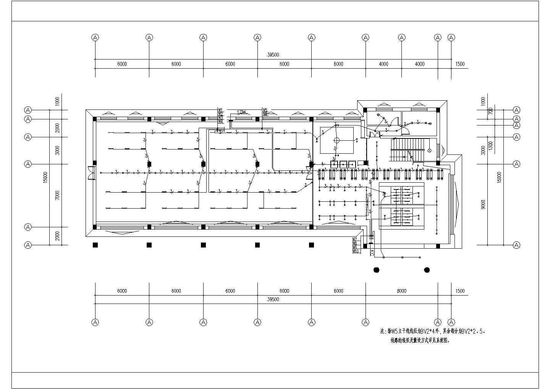 三层办公楼电气施工设计方案全套CAD图纸图片3