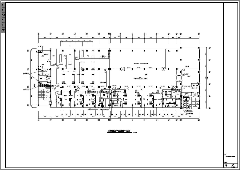 洁净厂房空调系统设计cad平面布置施工图图片3