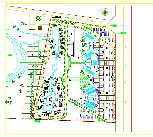某地酒店建筑总平面图(节点详细)图片1