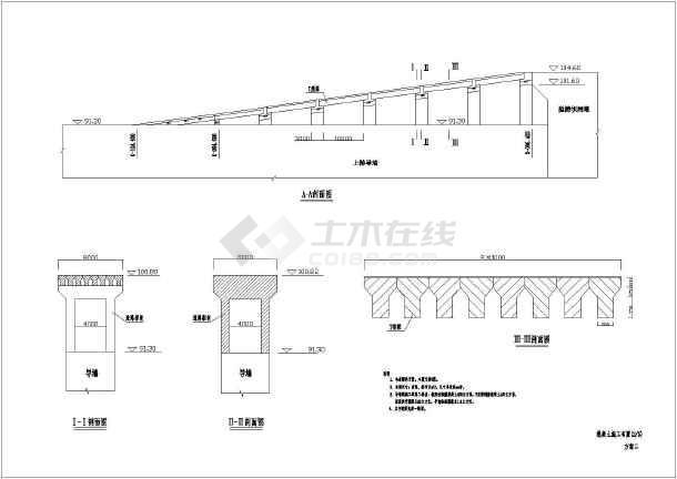 比较齐全的混凝土施工布置cad图-图3