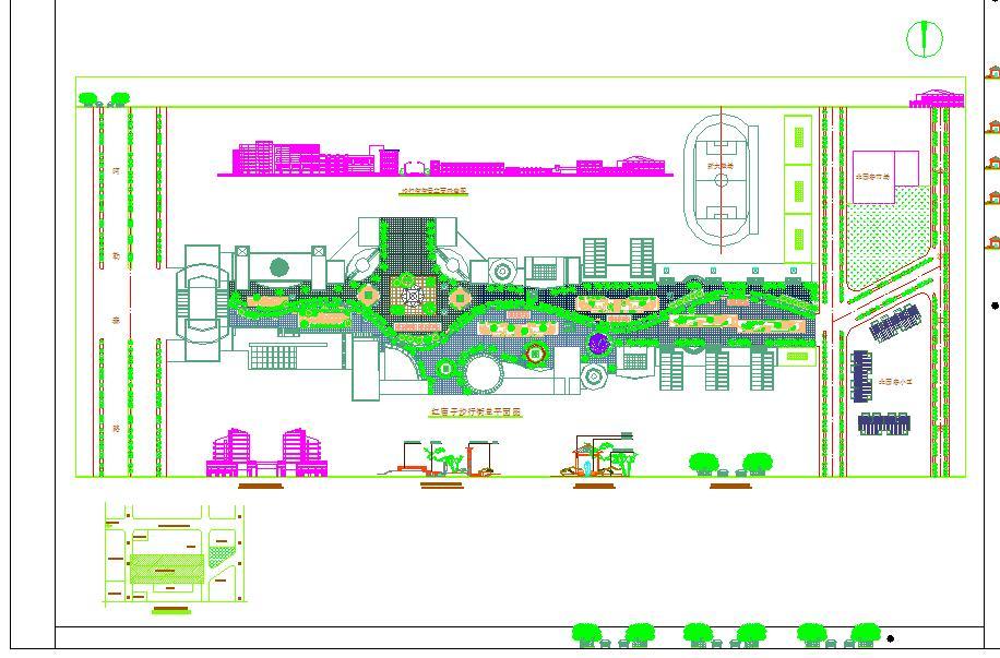 某地小型步行街建筑总平面图(含设计说明)图片1