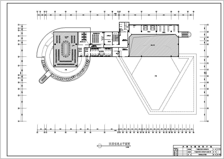 广州经济开发区文体活动中心电气设计CAD施工图图片1
