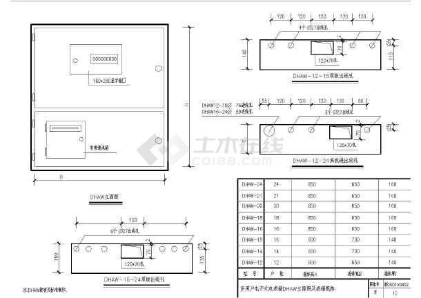 某地区某住宅公寓楼电气设计CAD施工图纸-图二