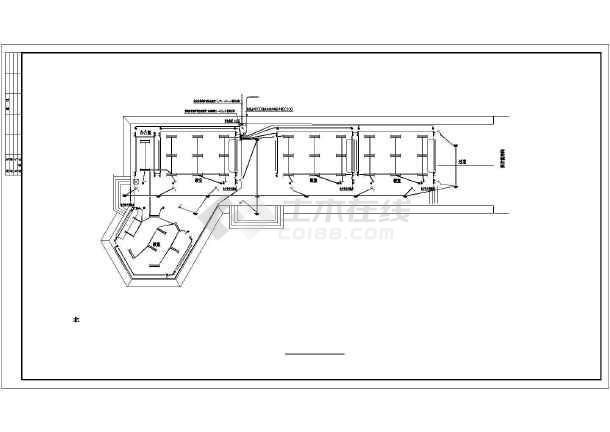 实验中学教学楼电气设计方案全套CAD详图-图二