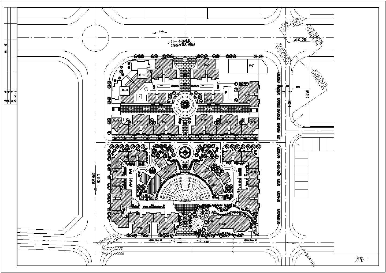 某地小区规划建筑总平面图(共2张)图片1