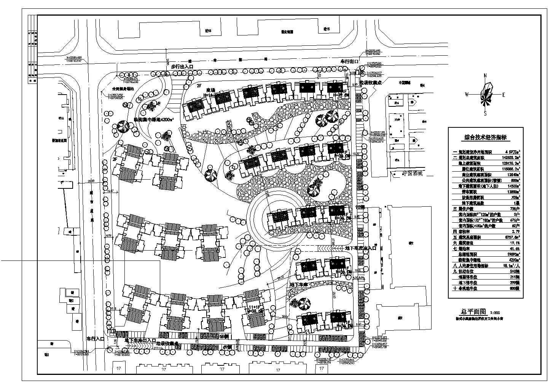 某地经典两个小区规划建筑总平面图(节点详细)图片1