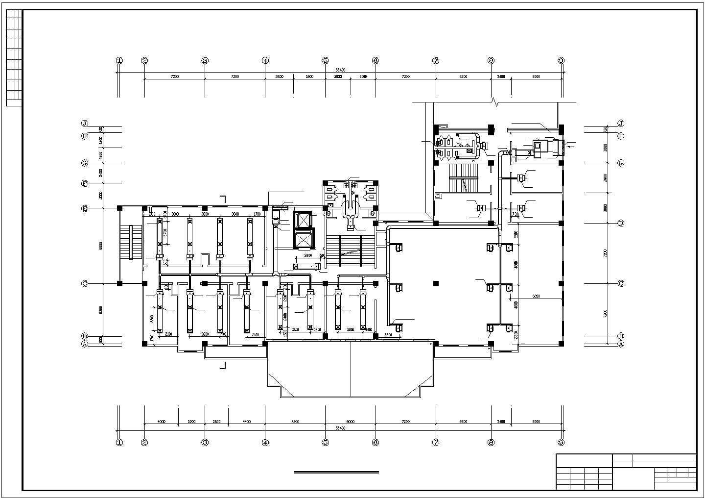 某地综合楼空调系统中的风系统cad图图片3