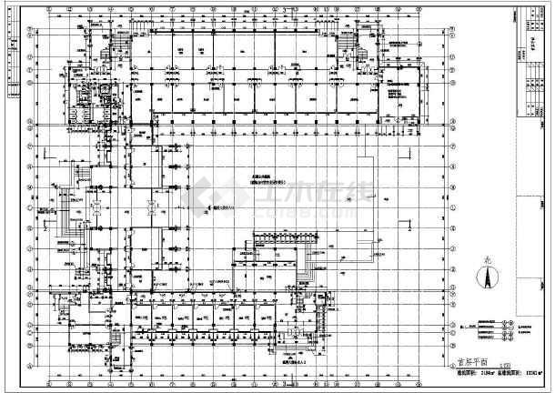某大学教学楼设计方案及施工全套cad图纸图片