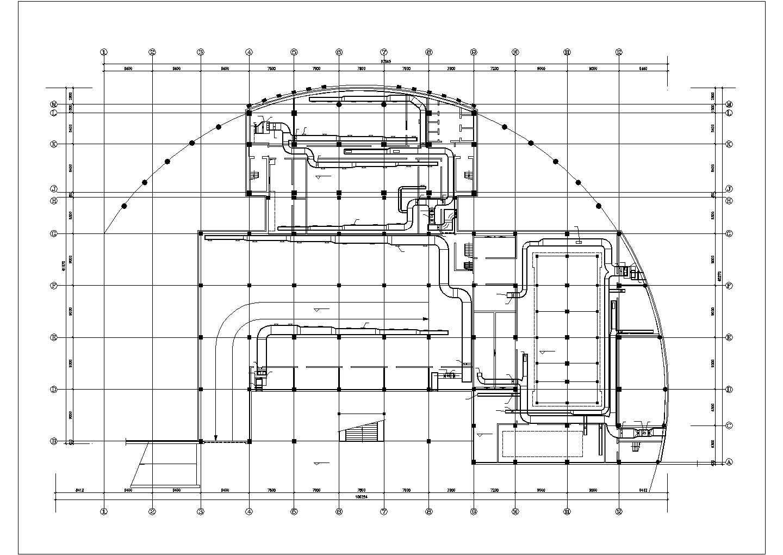 某住宅地下室中央空调全套cad设计施工图纸dwg图片1