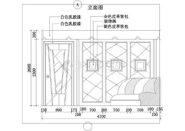 某地商务KTV中房建筑效果图以及施工图(全套)-图二