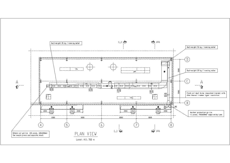 某中央空调控制室cad系统工程设计图纸图片2