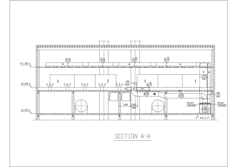 某中央空调控制室cad系统工程设计图纸图片3