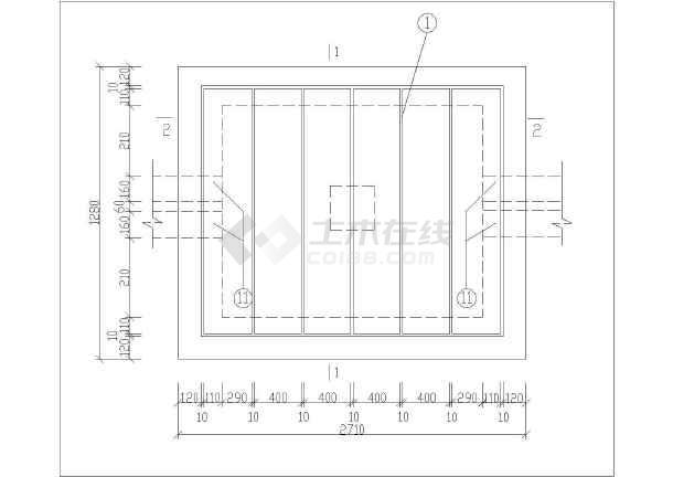 人气较高的直线电缆井电气原理图纸图片