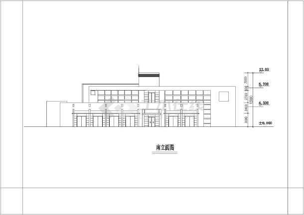 点击查看岱山某地区商铺、办公楼带CAD建筑效果图第1张大图