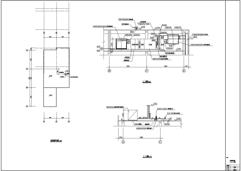 某洁净厂房空调系统cad平面施工图图片1