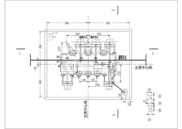 简单实用的变压器接线电气原理图纸-图一