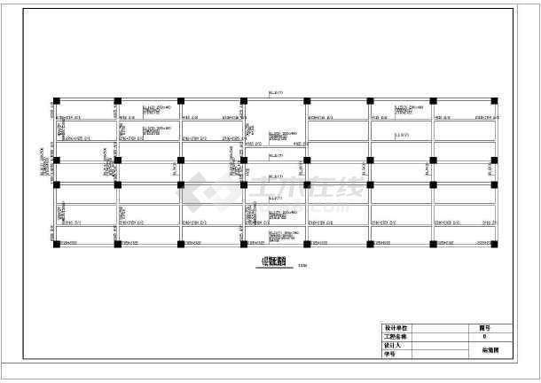 某地区明珠办公楼毕业设计cad详细图及计算书-图1