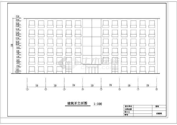 某地区明珠办公楼毕业设计cad详细图及计算书-图3